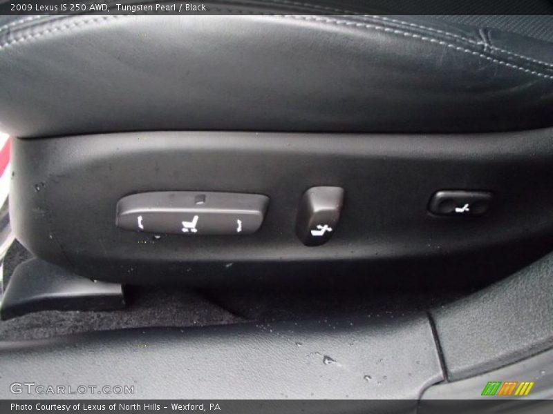 Tungsten Pearl / Black 2009 Lexus IS 250 AWD