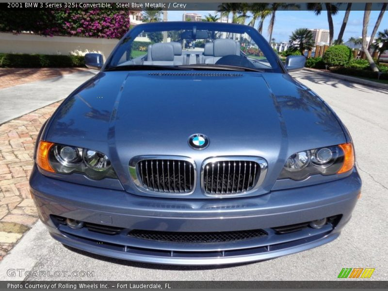 2001 3 Series 325i Convertible Steel Blue Metallic