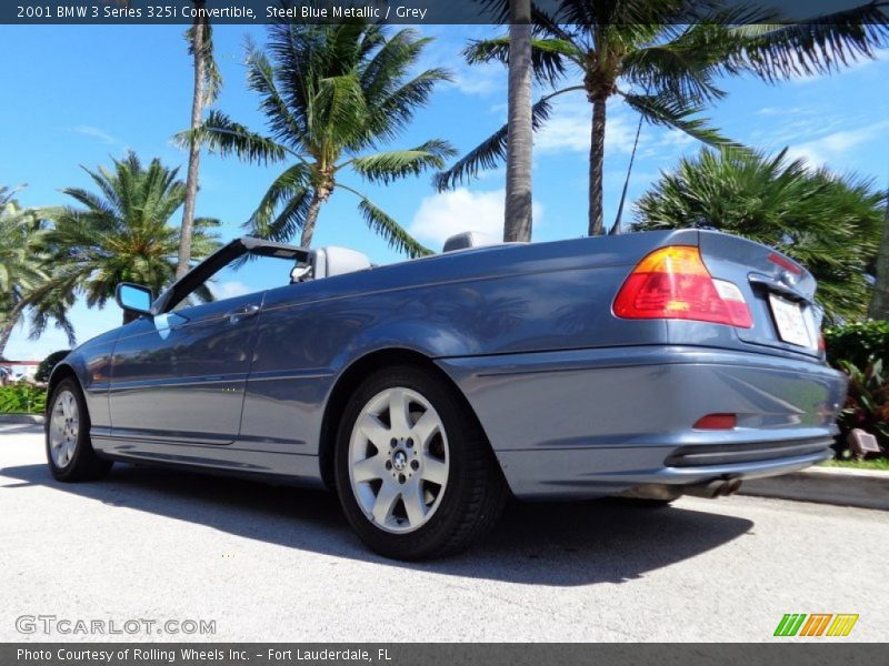 Steel Blue Metallic / Grey 2001 BMW 3 Series 325i Convertible