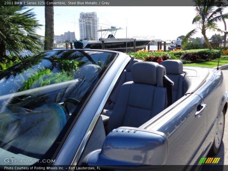 Steel Blue Metallic / Grey 2001 BMW 3 Series 325i Convertible