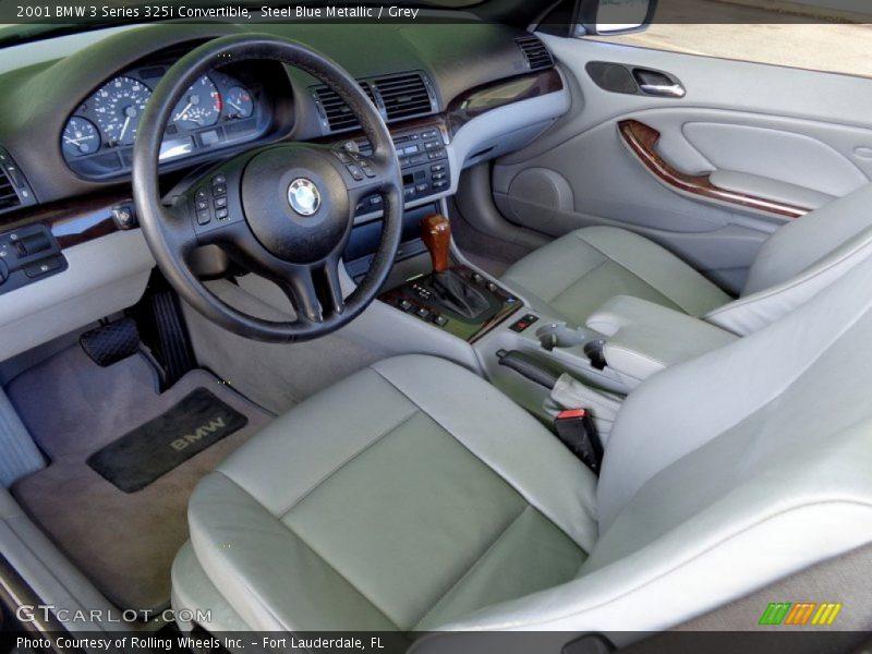 Grey Interior - 2001 3 Series 325i Convertible