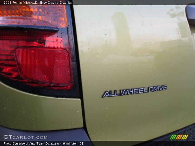 Envy Green / Graphite 2003 Pontiac Vibe AWD