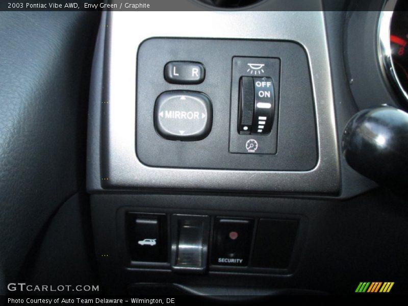 Controls of 2003 Vibe AWD