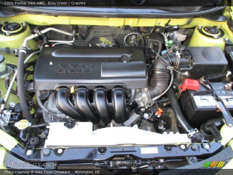 2003 Vibe AWD Engine - 1.8 Liter DOHC 16V VVT-i 4 Cylinder