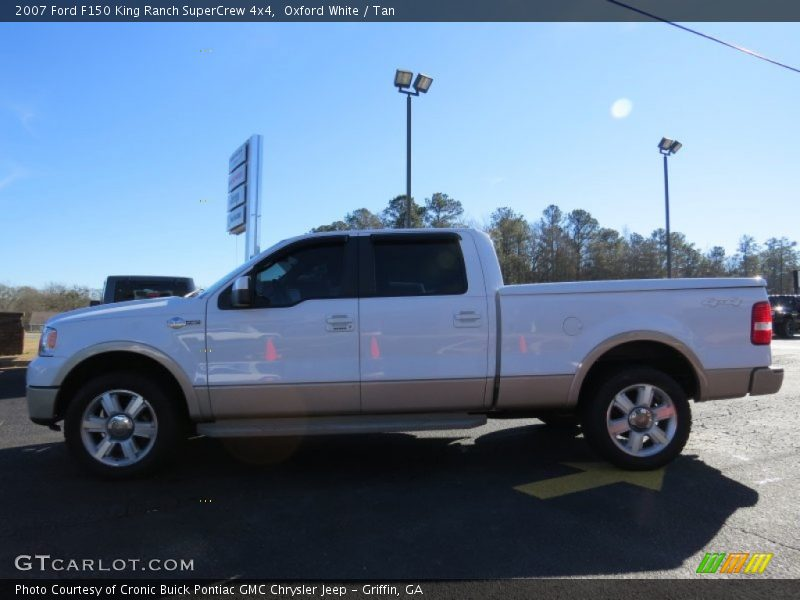 Oxford White / Tan 2007 Ford F150 King Ranch SuperCrew 4x4