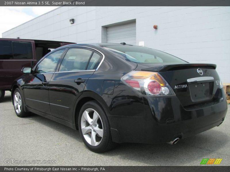 2007 Nissan Altima 35 Se In Super Black Photo No 8949885