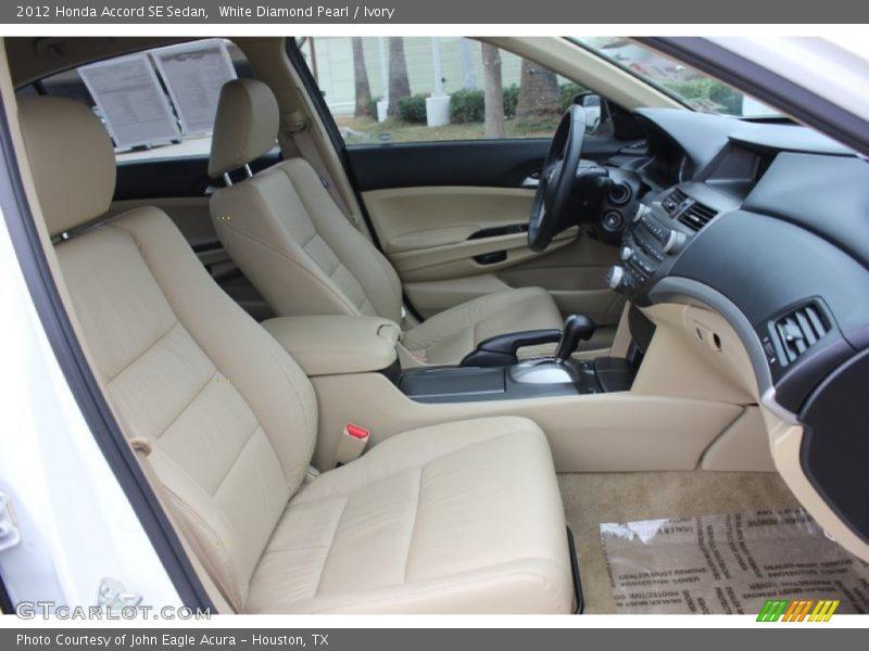 White Diamond Pearl / Ivory 2012 Honda Accord SE Sedan