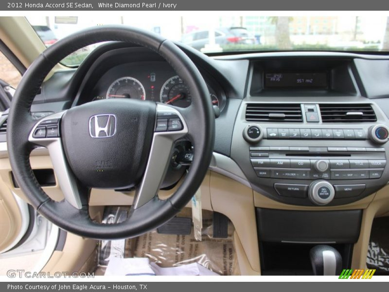White Diamond Pearl / Ivory 2012 Honda Accord SE Sedan