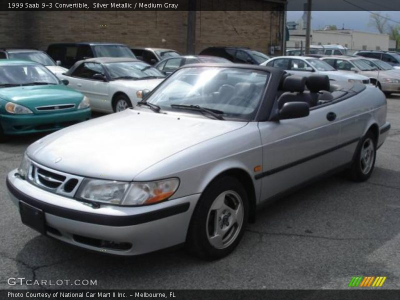 1999 saab 9 3 convertible in silver metallic photo no 9047963. Black Bedroom Furniture Sets. Home Design Ideas