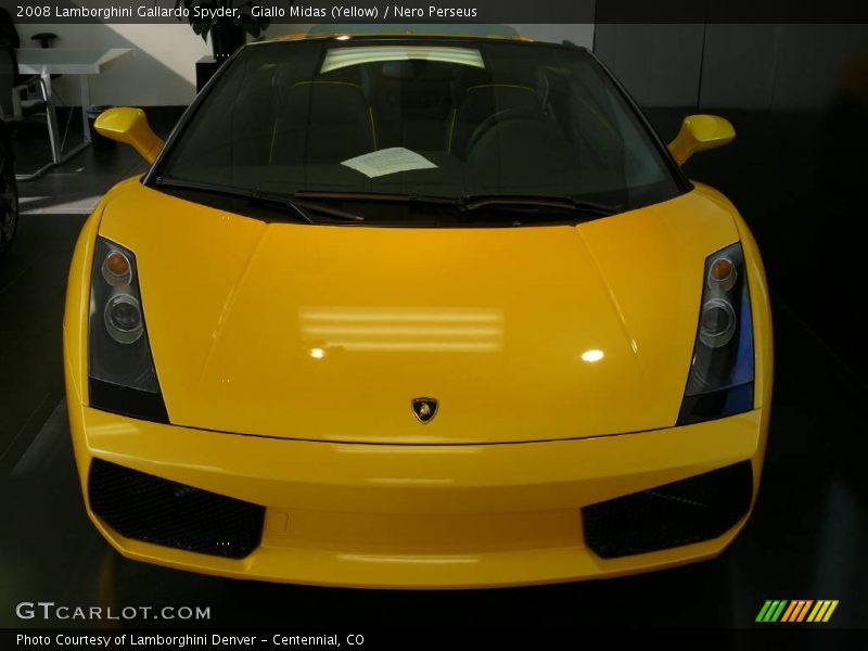 Giallo Midas (Yellow) / Nero Perseus 2008 Lamborghini Gallardo Spyder