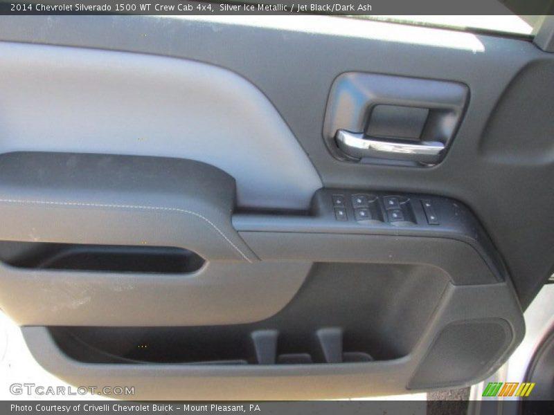 Silver Ice Metallic / Jet Black/Dark Ash 2014 Chevrolet Silverado 1500 WT Crew Cab 4x4