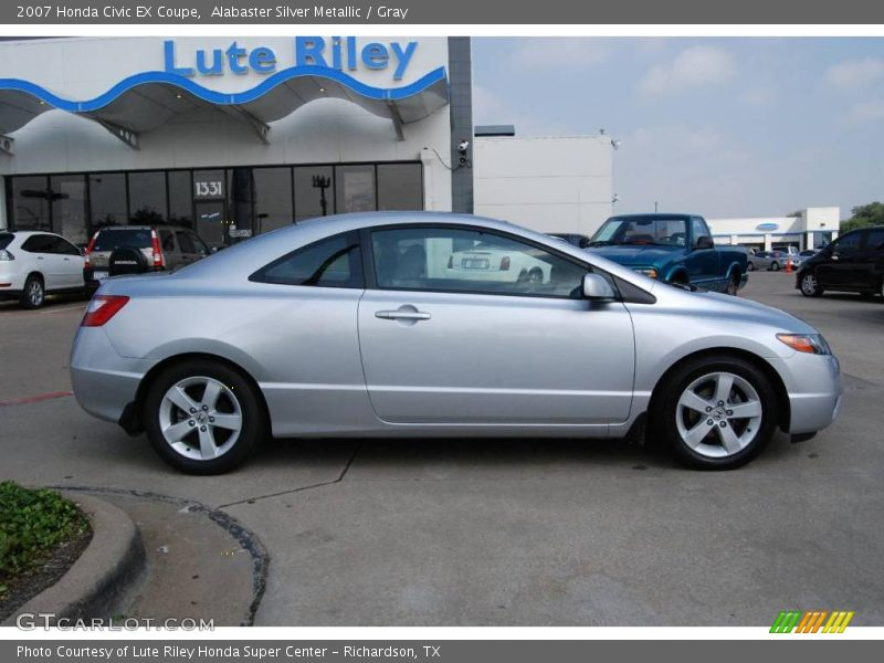 2007 honda civic ex coupe in alabaster silver metallic photo no. Black Bedroom Furniture Sets. Home Design Ideas