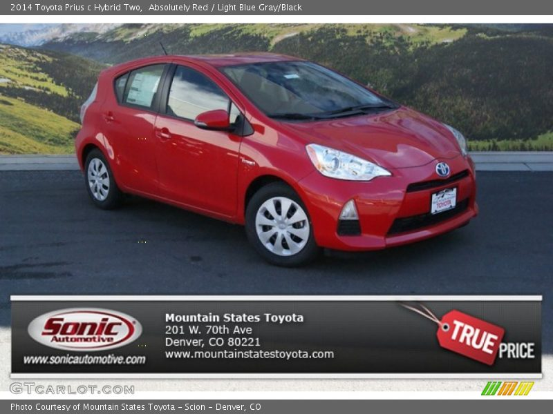 2014 toyota prius c hybrid two in absolutely red photo no 91719439. Black Bedroom Furniture Sets. Home Design Ideas