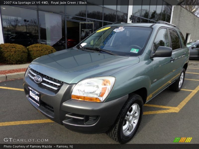 Royal Jade Green / Black 2007 Kia Sportage LX V6 4WD