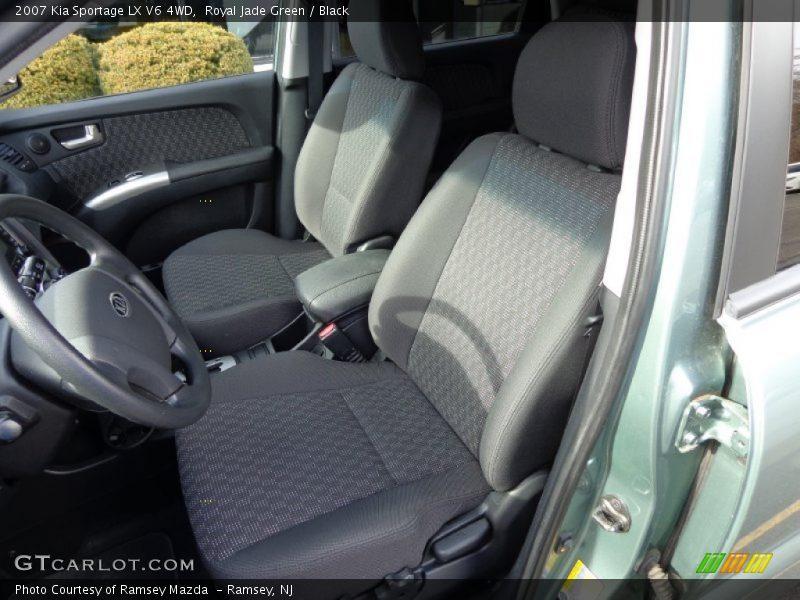 Royal Jade Green / Black 2007 Kia Sportage LX V6 4WD