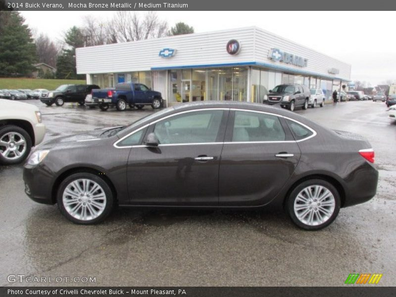 Mocha Bronze Metallic / Medium Titanium 2014 Buick Verano
