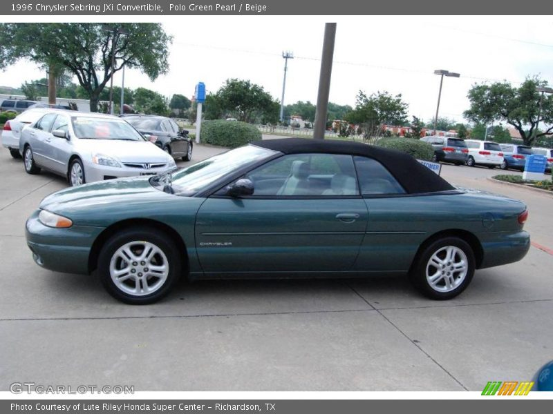 1996 chrysler sebring jxi convertible in polo green pearl. Black Bedroom Furniture Sets. Home Design Ideas