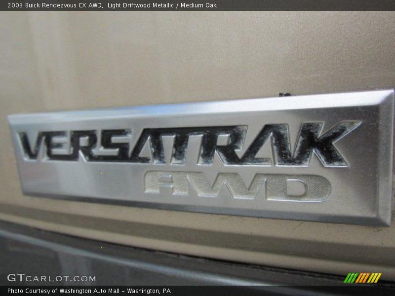 Light Driftwood Metallic / Medium Oak 2003 Buick Rendezvous CX AWD
