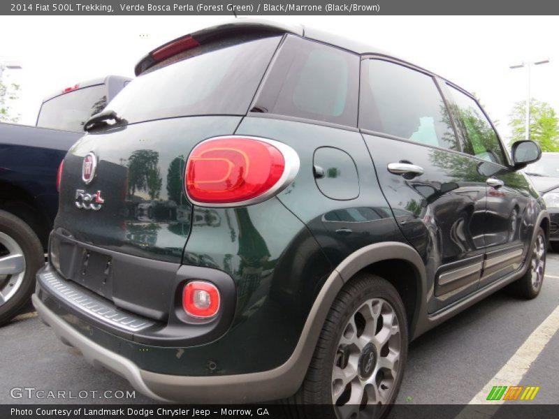Verde Bosca Perla (Forest Green) / Black/Marrone (Black/Brown) 2014 Fiat 500L Trekking