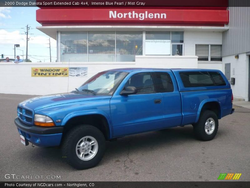 2000 dodge dakota sport extended cab 4x4 in intense blue pearl photo no 9409275. Black Bedroom Furniture Sets. Home Design Ideas