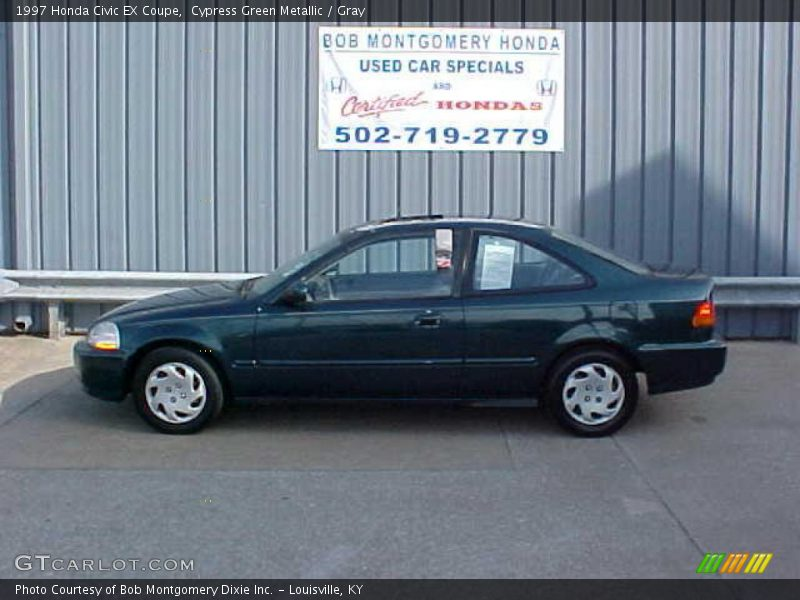 1997 honda civic ex coupe in cypress green metallic photo no 9455333. Black Bedroom Furniture Sets. Home Design Ideas