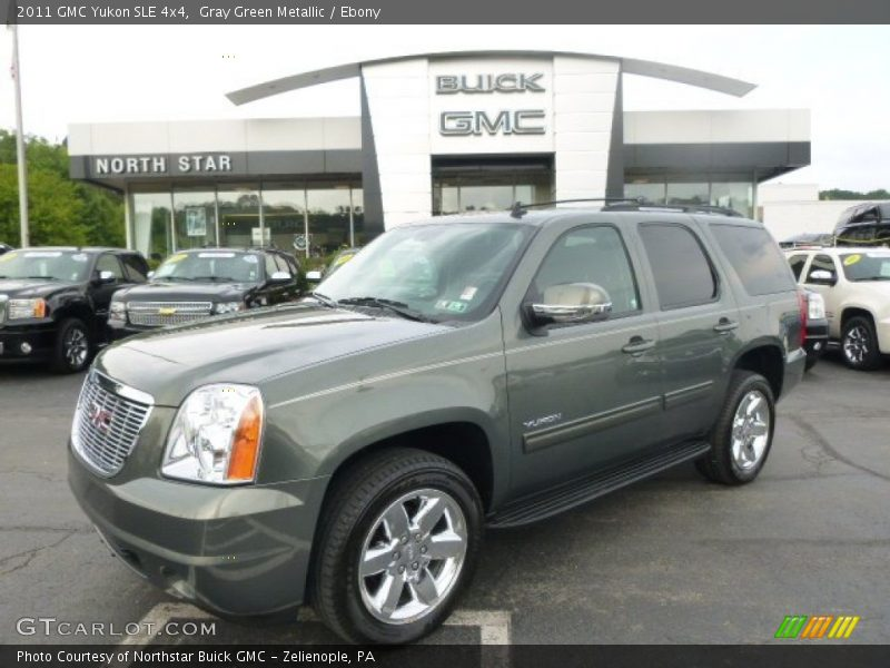 Gray Green Metallic / Ebony 2011 GMC Yukon SLE 4x4