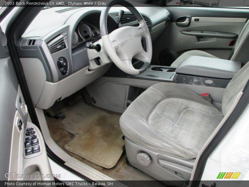 2003 Rendezvous CX AWD Gray Interior