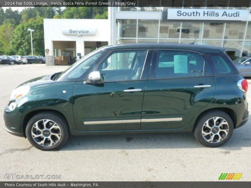 Verde Bosca Perla (Forest Green) / Beige/Grey 2014 Fiat 500L Lounge