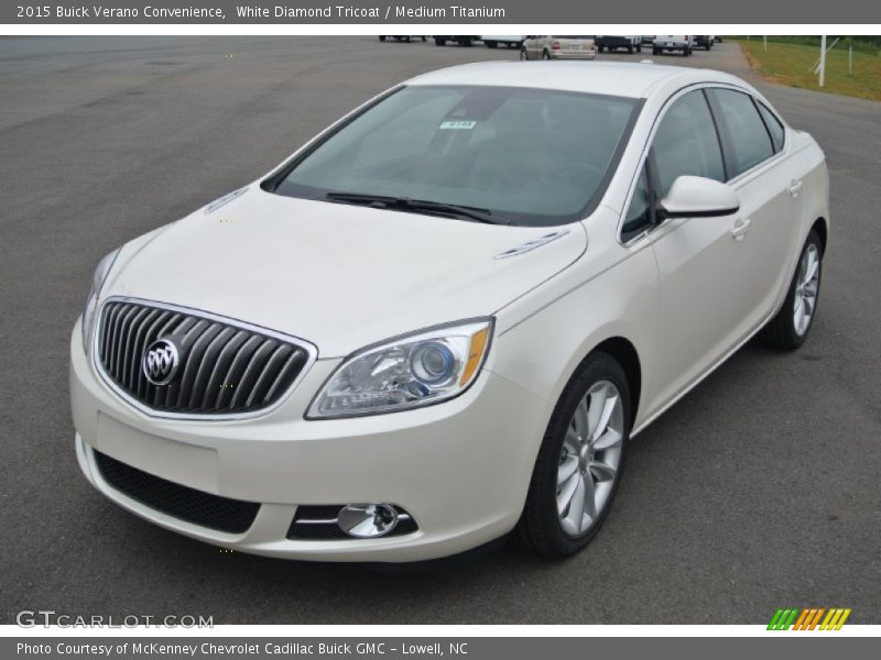 White Diamond Tricoat / Medium Titanium 2015 Buick Verano Convenience