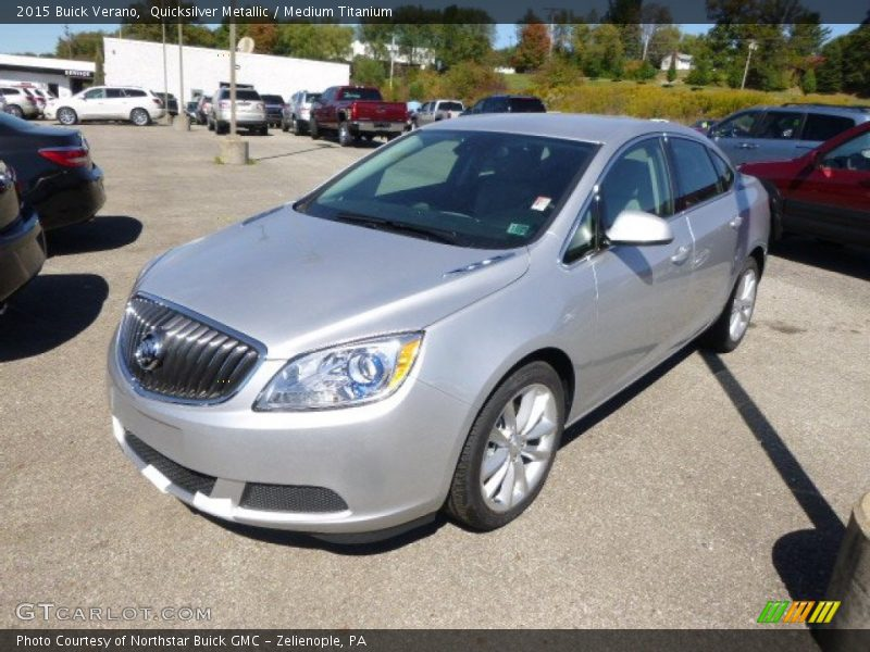 Quicksilver Metallic / Medium Titanium 2015 Buick Verano