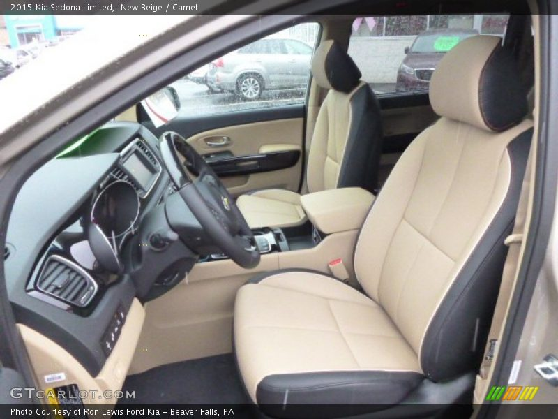 Front Seat of 2015 Sedona Limited