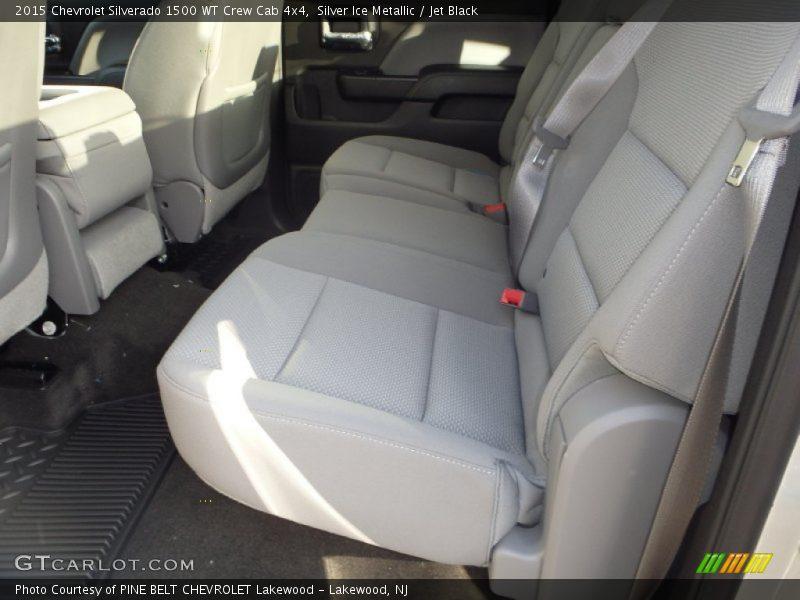 Silver Ice Metallic / Jet Black 2015 Chevrolet Silverado 1500 WT Crew Cab 4x4