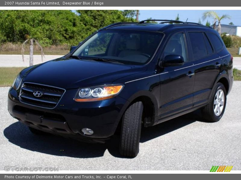 2007 hyundai santa fe limited in deepwater blue photo no. Black Bedroom Furniture Sets. Home Design Ideas