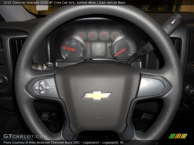 Summit White / Dark Ash/Jet Black 2015 Chevrolet Silverado 1500 WT Crew Cab 4x4