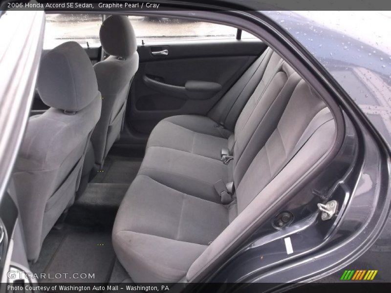 Graphite Pearl / Gray 2006 Honda Accord SE Sedan