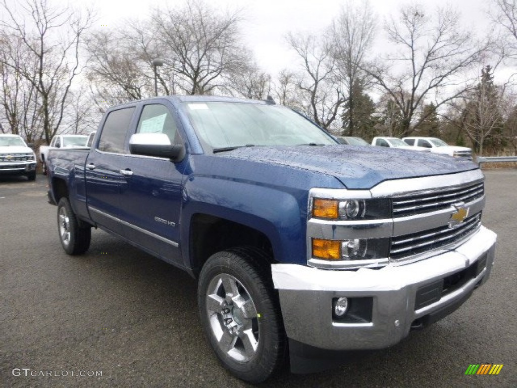 deep ocean blue metallic 2015 chevrolet silverado 2500hd ltz crew cab 4x4 exterior photo. Black Bedroom Furniture Sets. Home Design Ideas