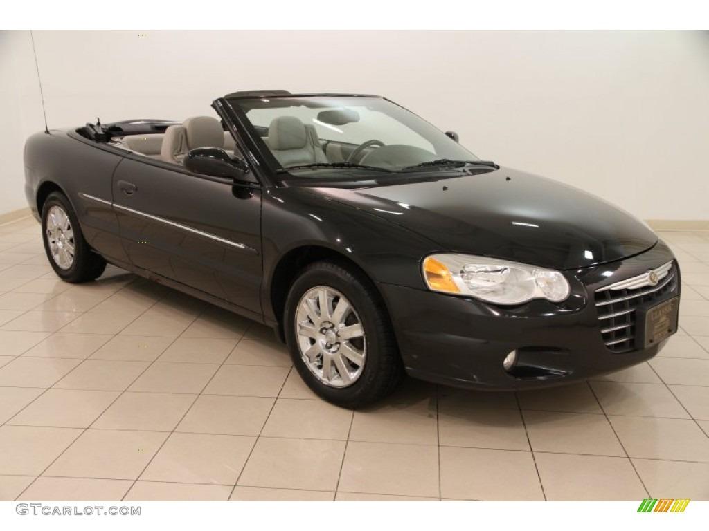 2005 Brilliant Black Chrysler Sebring Limited Convertible 99988044