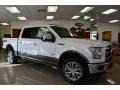 White Platinum Tricoat - F150 King Ranch SuperCrew 4x4 Photo No. 1