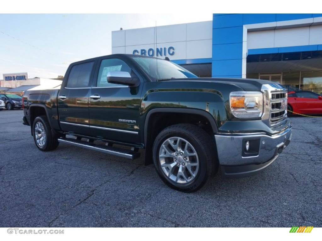 2015 emerald green metallic gmc sierra 1500 slt crew cab 4x4 100027995 photo 2. Black Bedroom Furniture Sets. Home Design Ideas