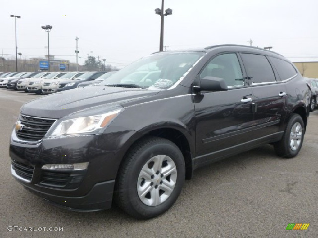 2015 tungsten metallic chevrolet traverse ls awd 100027903 car color galleries. Black Bedroom Furniture Sets. Home Design Ideas