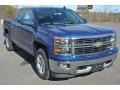 Deep Ocean Blue Metallic 2015 Chevrolet Silverado 1500 LT Double Cab 4x4