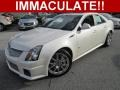 White Diamond Tricoat 2012 Cadillac CTS -V Sedan
