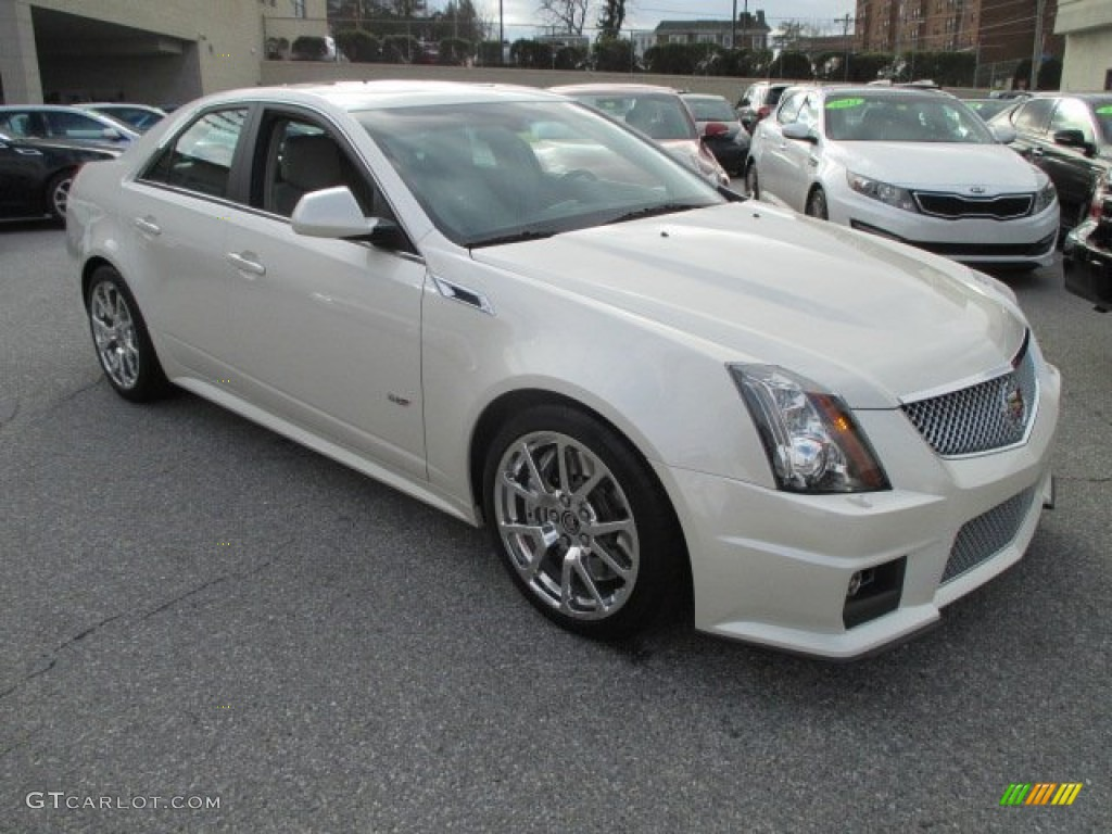 2012 White Diamond Tricoat Cadillac Cts V Sedan