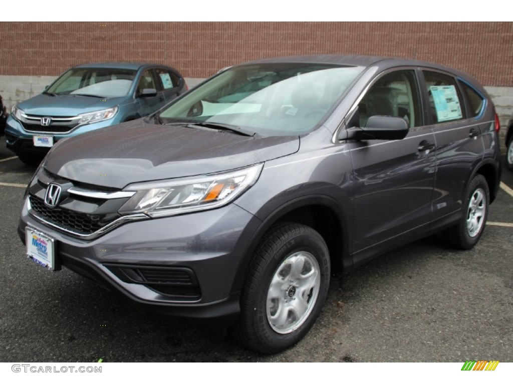 2015 CR-V LX AWD - Modern Steel Metallic / Gray photo #1