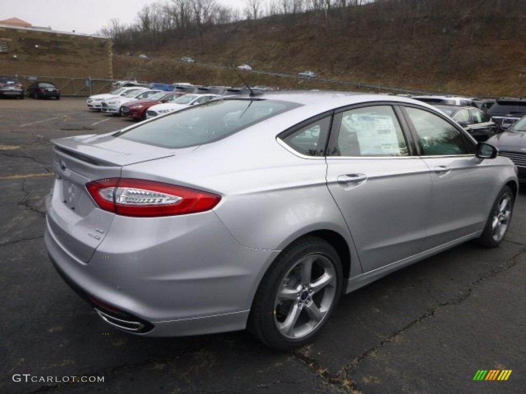 2015 Fusion SE AWD - Ingot Silver Metallic / Charcoal Black photo #2