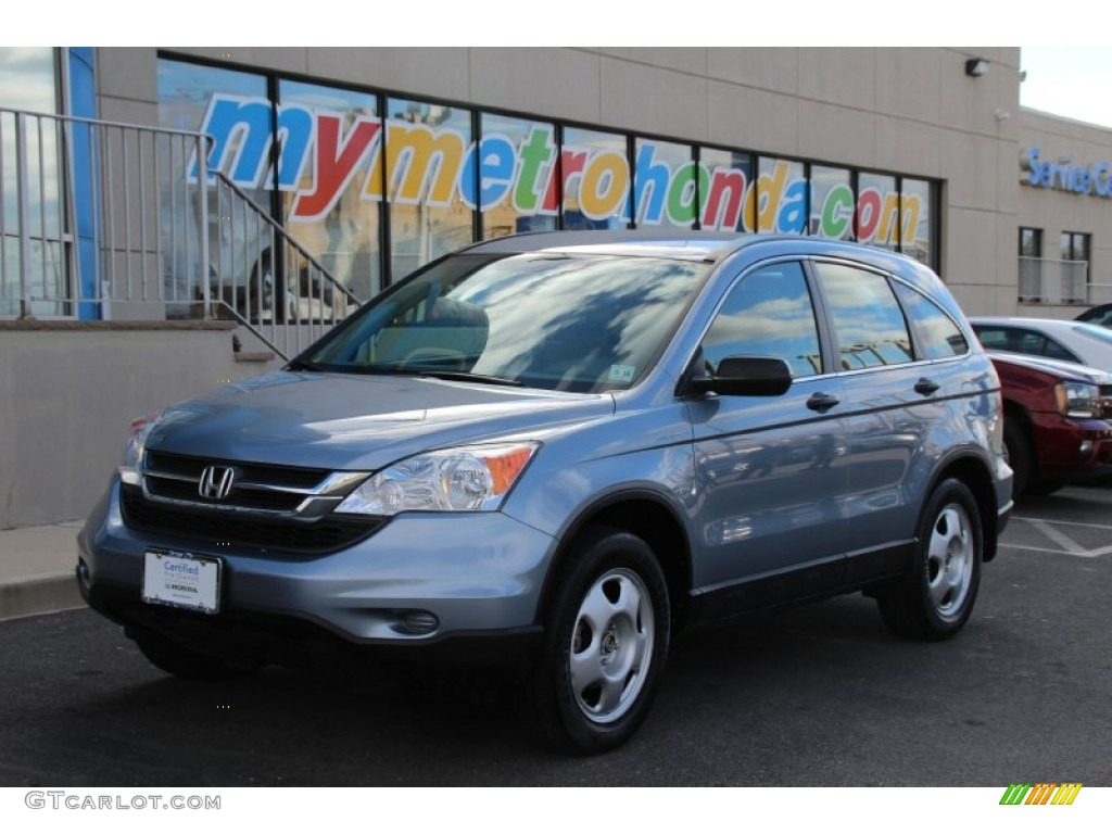 2011 CR-V LX 4WD - Glacier Blue Metallic / Gray photo #1