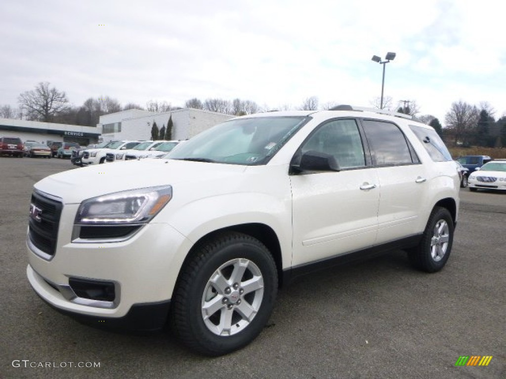 White Diamond Tricoat GMC Acadia