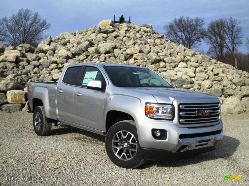 2015 quicksilver metallic gmc canyon sle crew cab 4x4