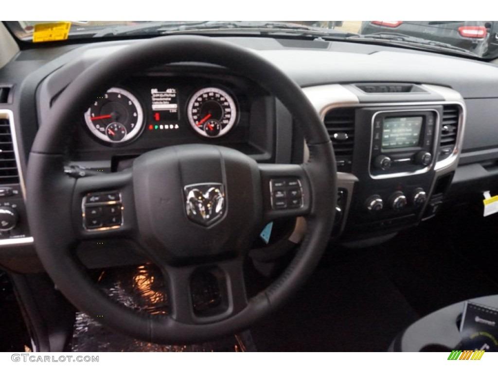 2015 1500 Big Horn Quad Cab - Black Forest Green Pearl / Black/Diesel Gray photo #6