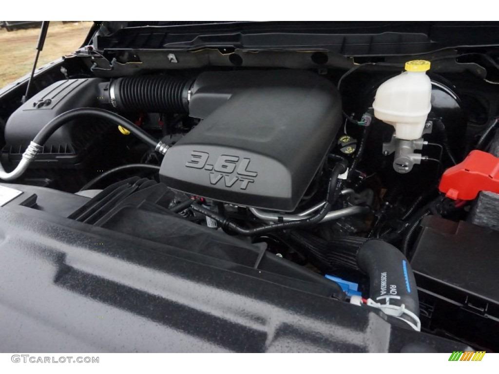 2015 1500 Big Horn Quad Cab - Black Forest Green Pearl / Black/Diesel Gray photo #7